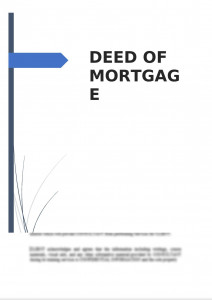 Deed of Mortgage