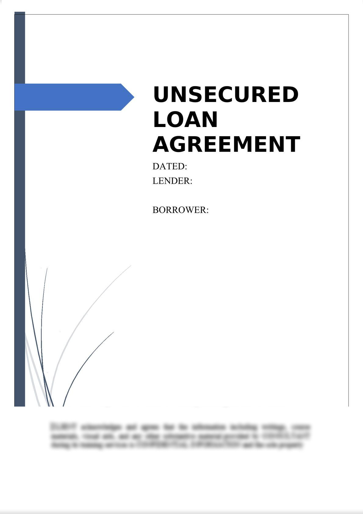 Unsecured Loan Agreement-0