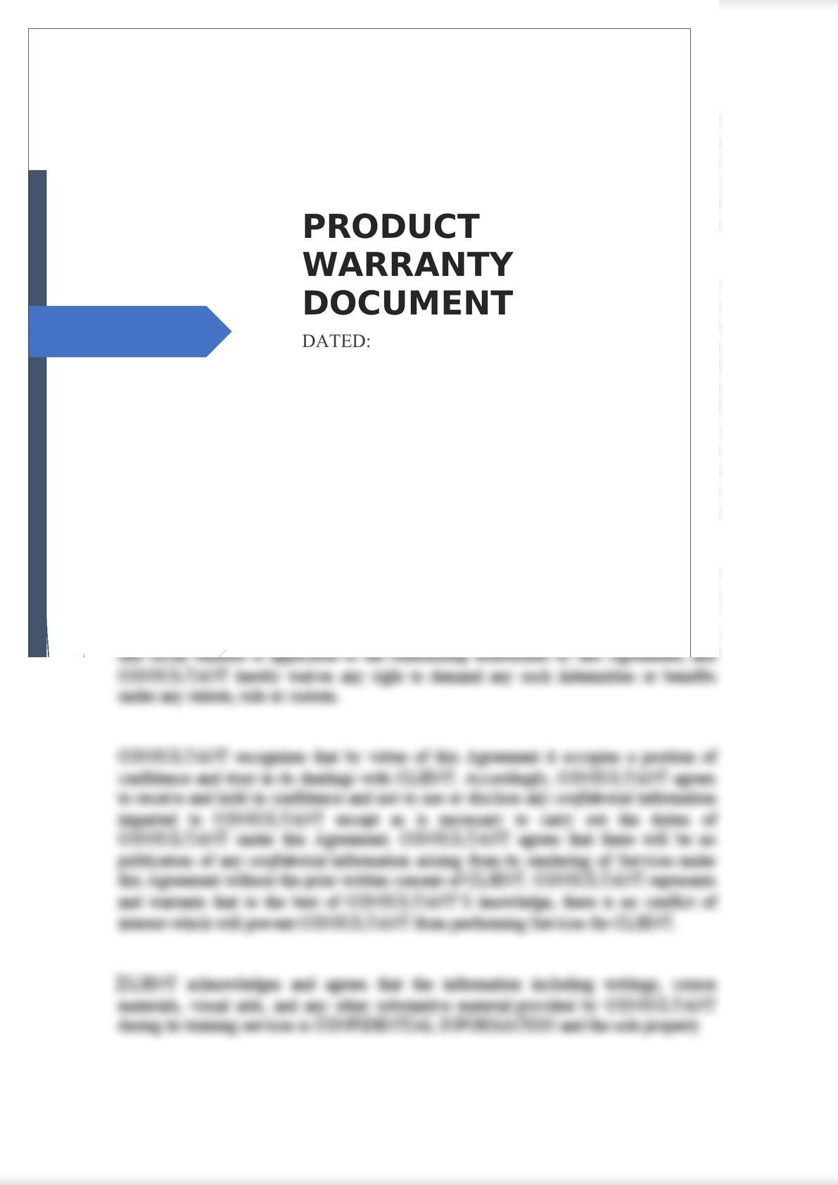 Product Warranty Document-0