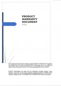 Product Warranty Document
