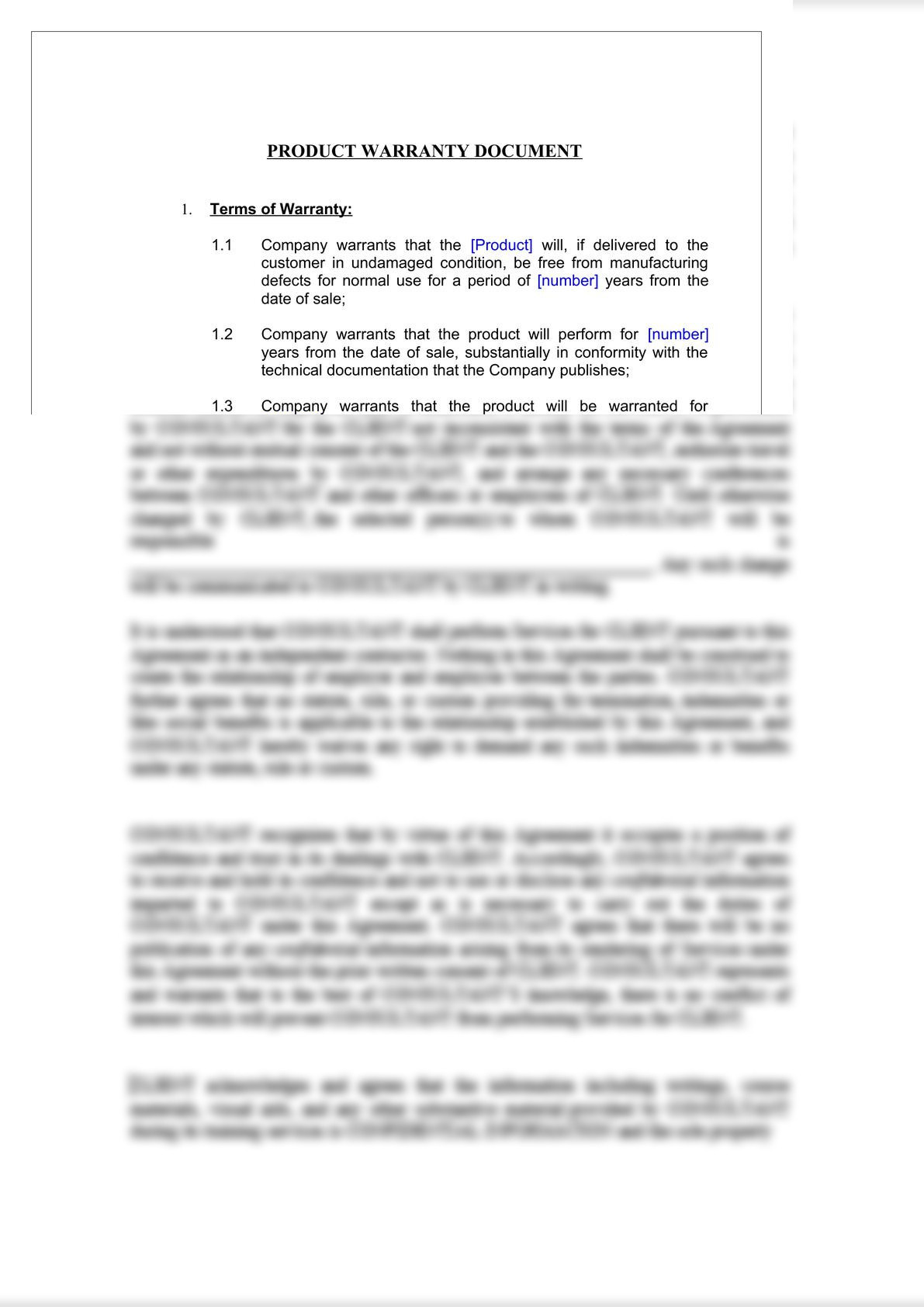 Product Warranty Document-2