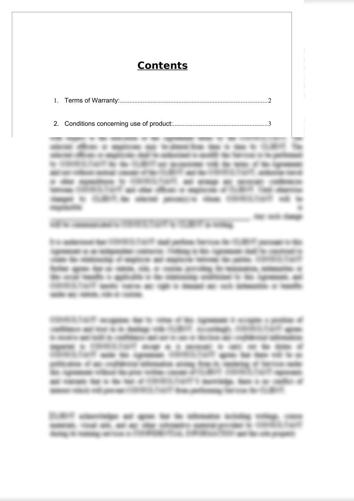 Product Warranty Document-1