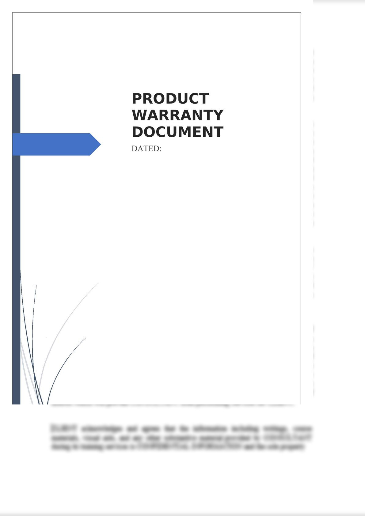 Product Warranty Document-0