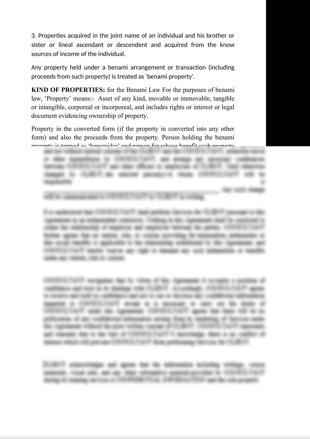 NOTES ON BENAMI TRANSACTIONS (PROHIBITION) ACT, 2017-2