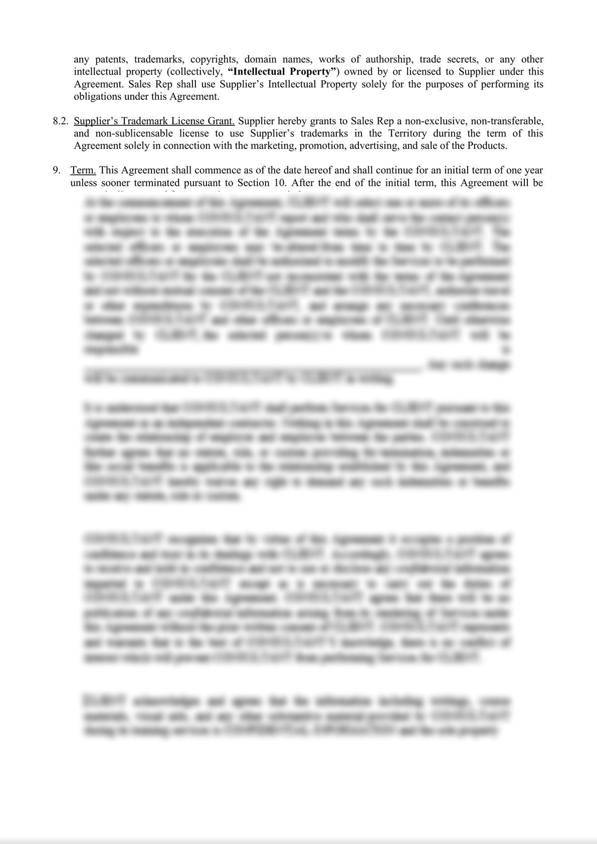 Sales Representative Agreement-2