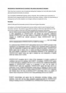 Termination procedure for gross misconduct under Rwanda Labour Law