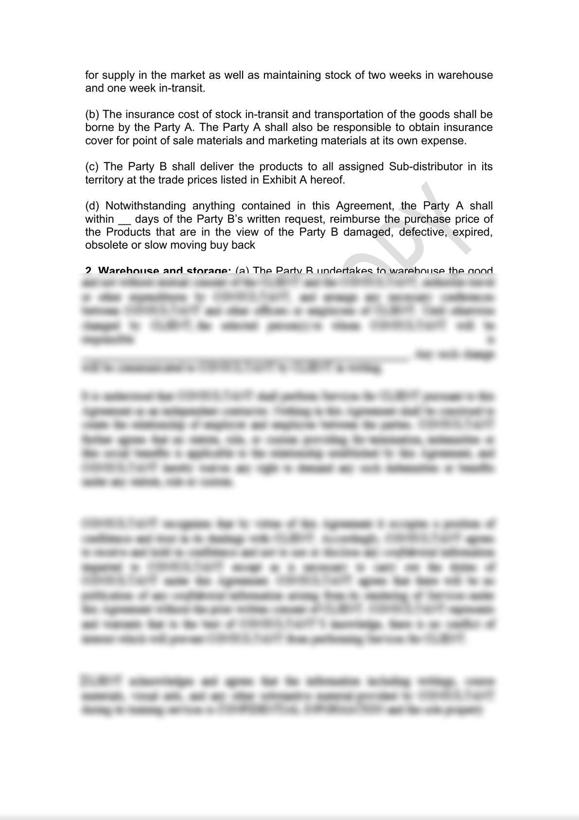 Distributor Agreement Draft-2