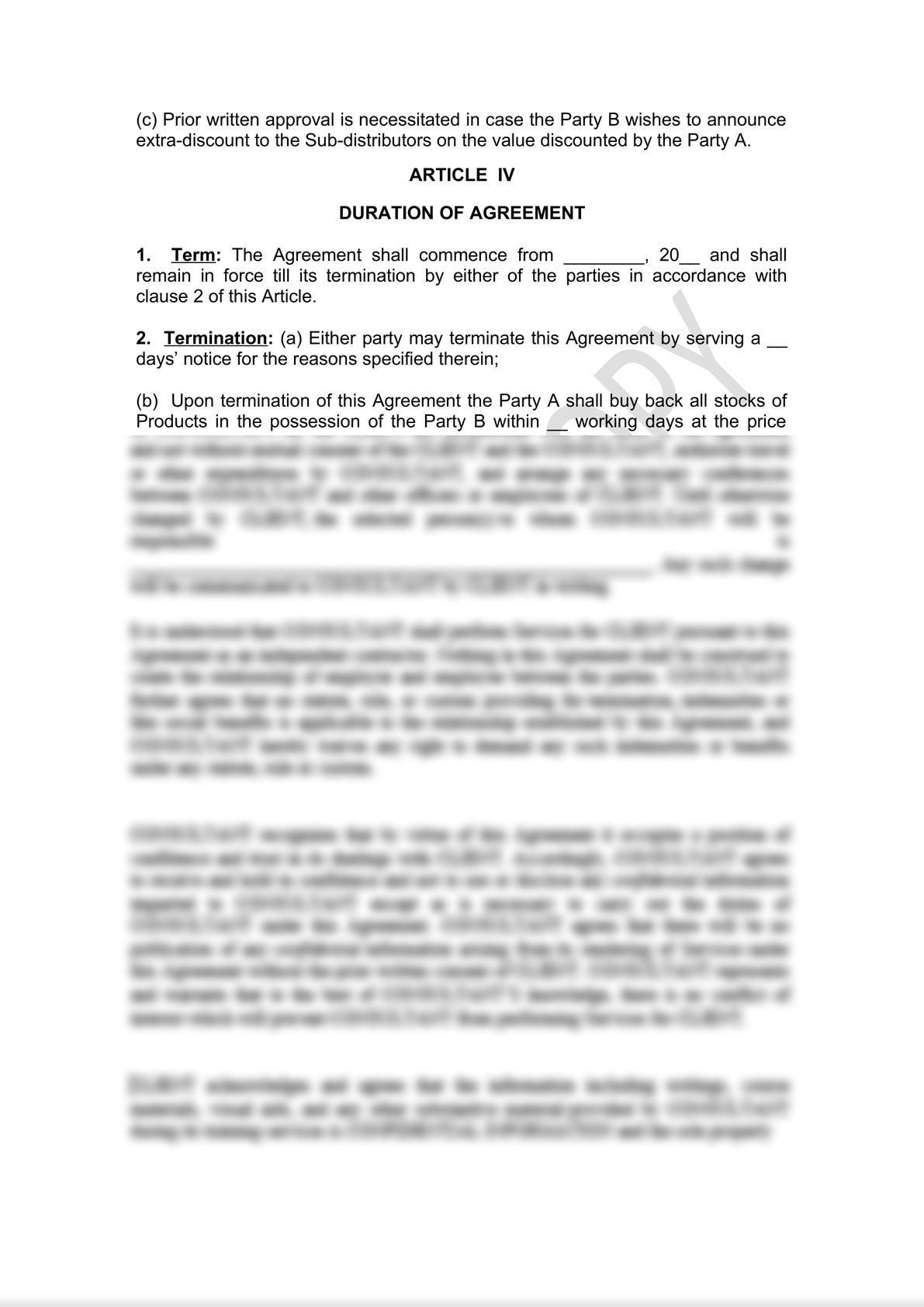 Distributor Agreement Draft-3