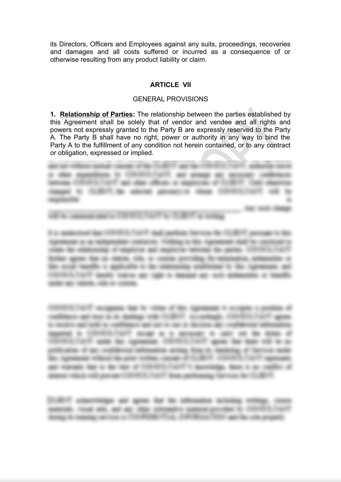 Distributor Agreement Draft-5