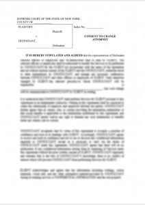 substitution of counsel