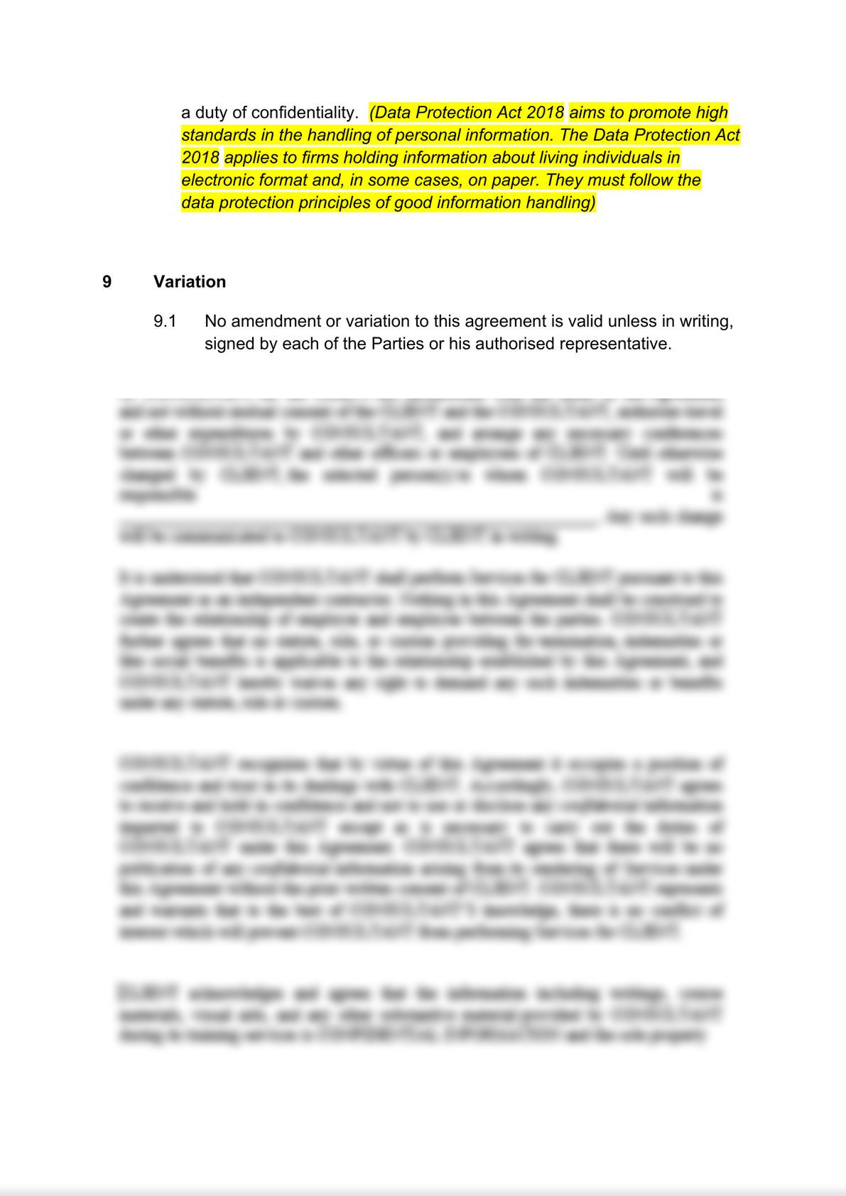 Employment agency agreement: client's version-4