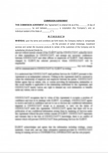 General Commission Agreement