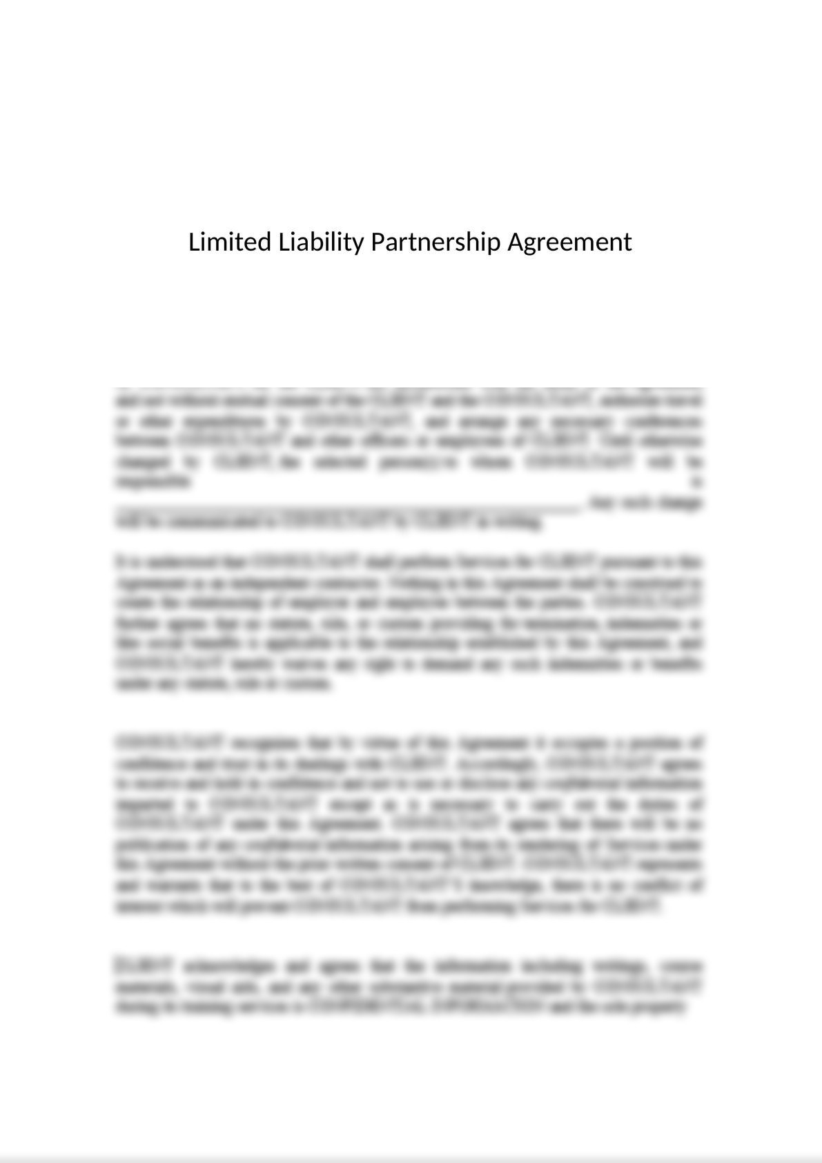 Limited Liability Partnership (LLP) Agreement-0