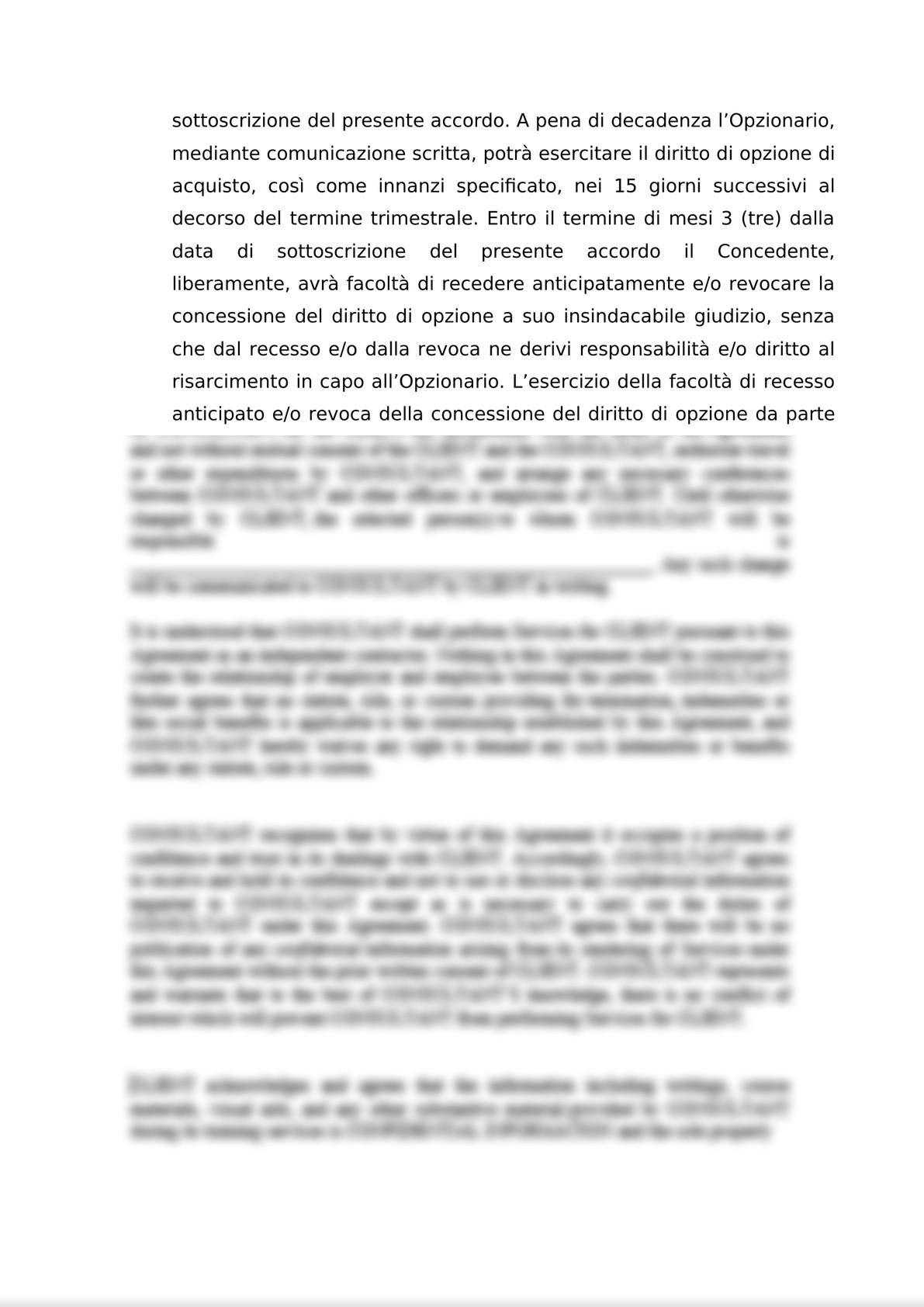 ACCORDO PER L'ATTRIBUZIONE DI DIRITTI DI OPZIONE DI ACQUISTO-2