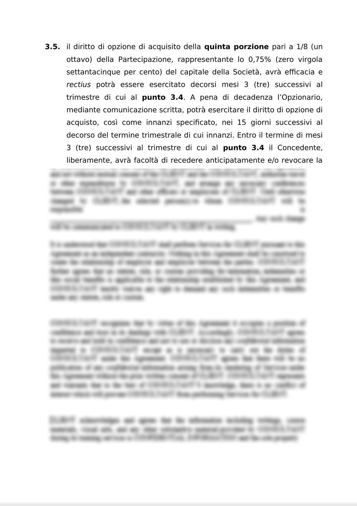 ACCORDO PER L'ATTRIBUZIONE DI DIRITTI DI OPZIONE DI ACQUISTO-4