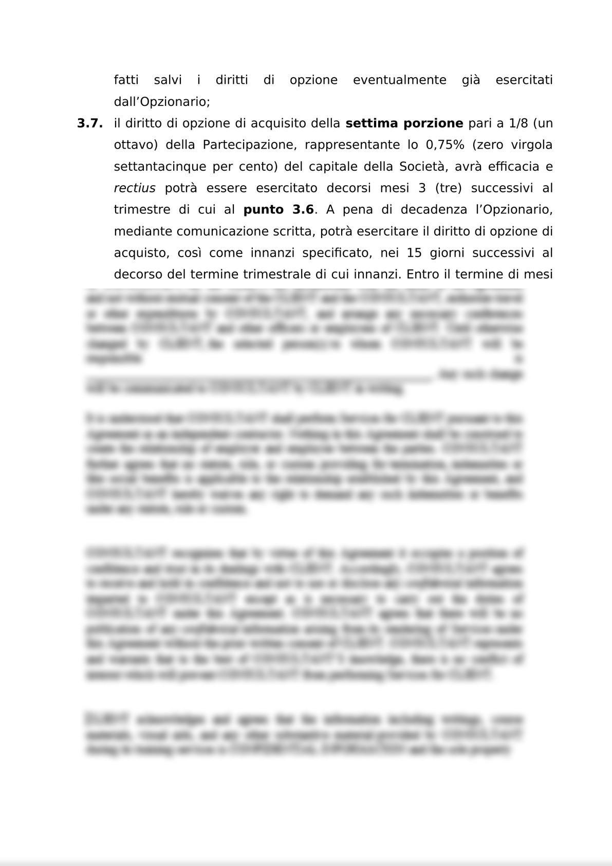 ACCORDO PER L'ATTRIBUZIONE DI DIRITTI DI OPZIONE DI ACQUISTO-5