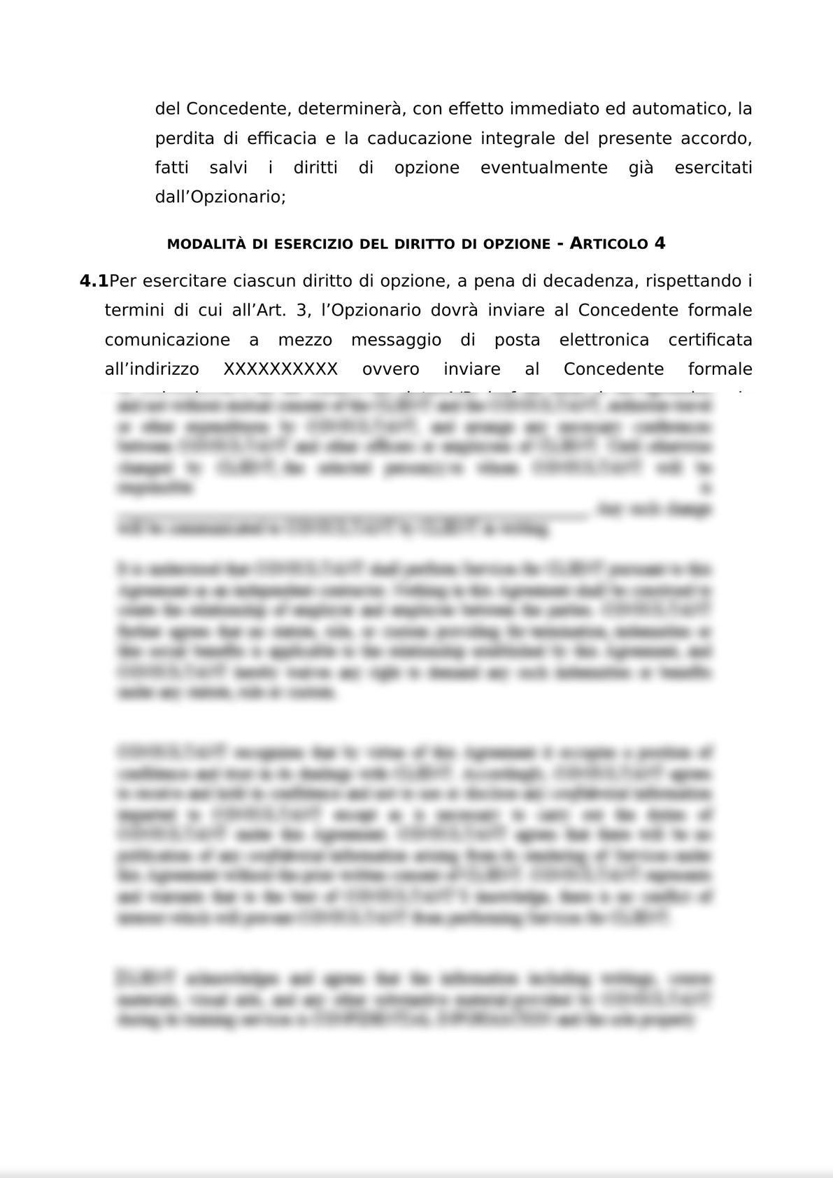 ACCORDO PER L'ATTRIBUZIONE DI DIRITTI DI OPZIONE DI ACQUISTO-6
