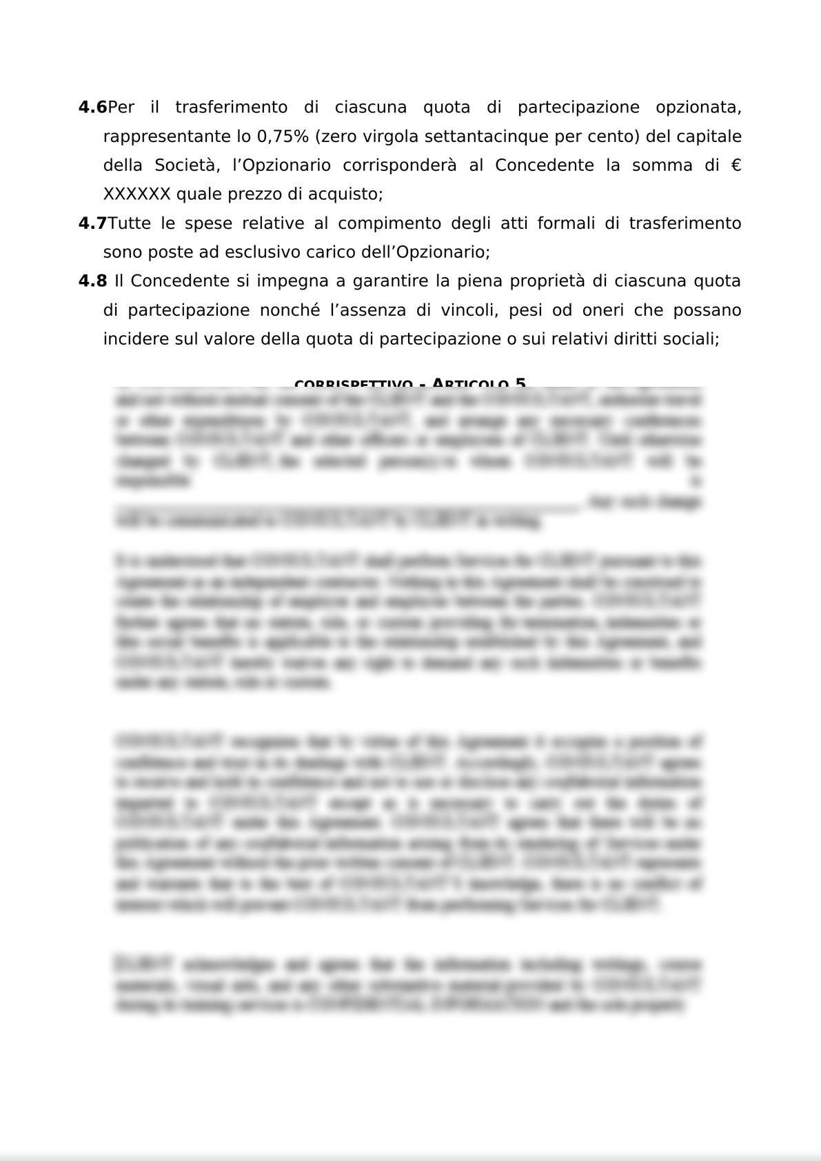 ACCORDO PER L'ATTRIBUZIONE DI DIRITTI DI OPZIONE DI ACQUISTO-7