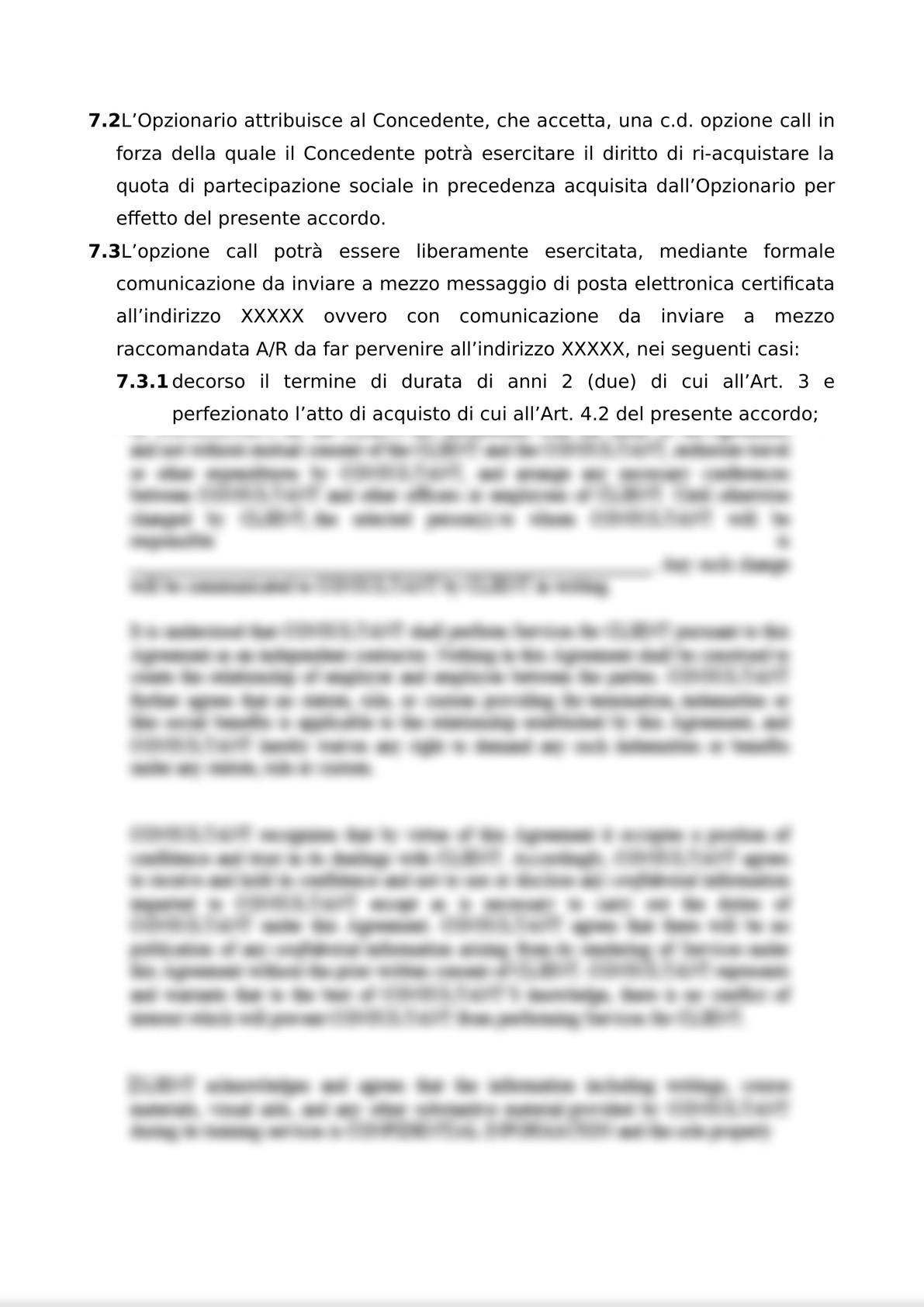 ACCORDO PER L'ATTRIBUZIONE DI DIRITTI DI OPZIONE DI ACQUISTO-8