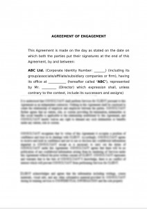Engagement Letter for M&A