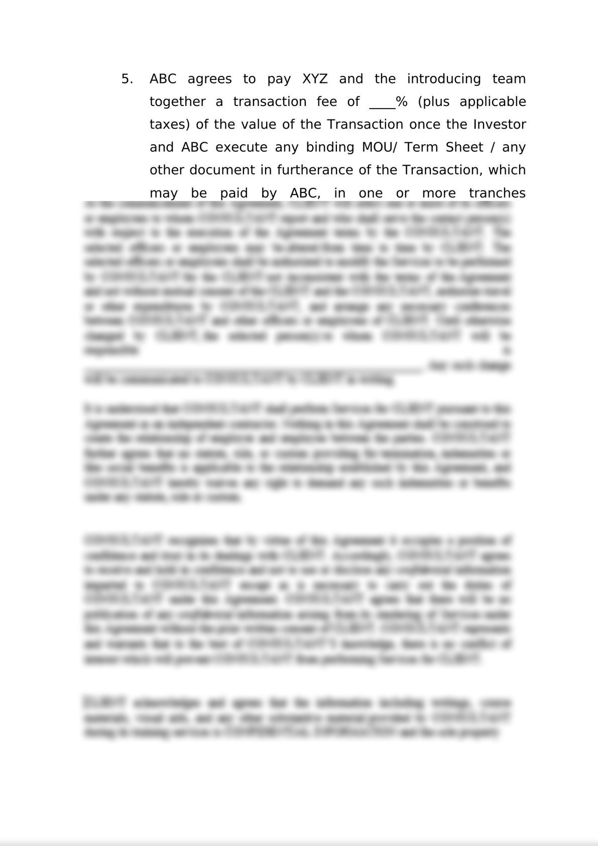 Engagement Letter for M&A-3