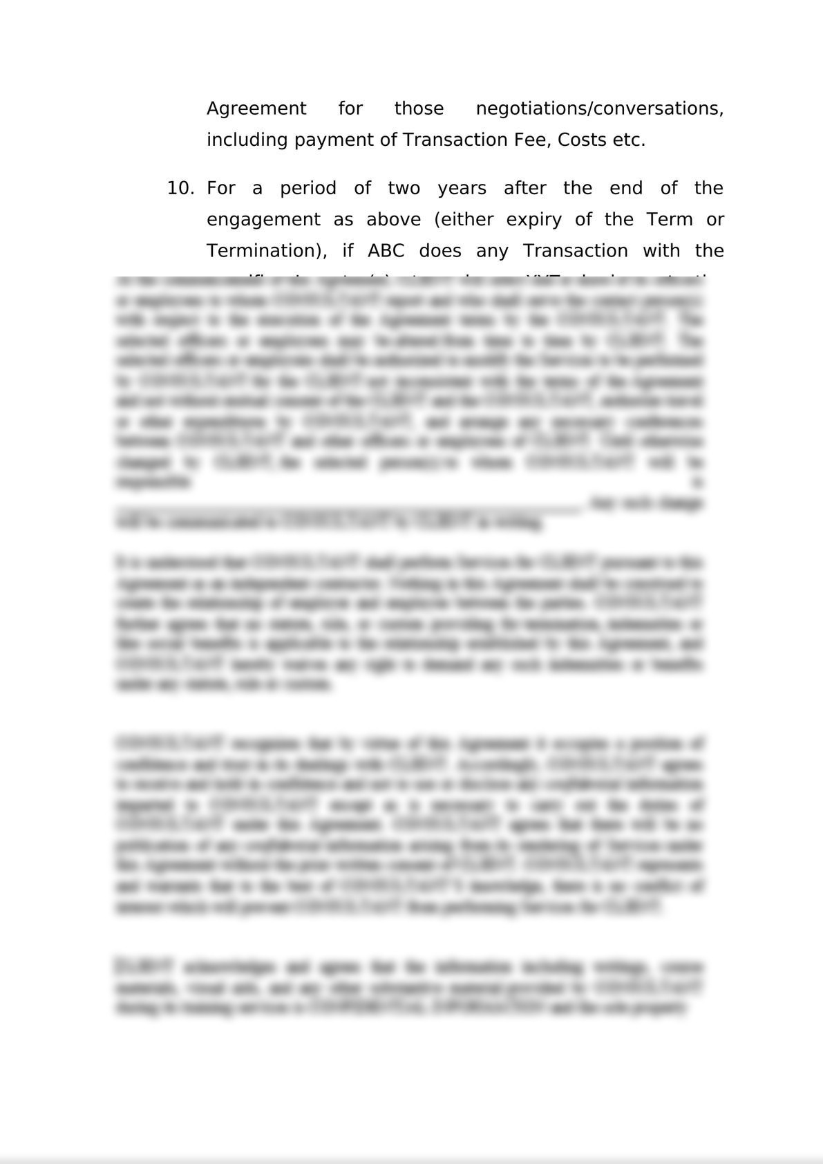 Engagement Letter for M&A-6