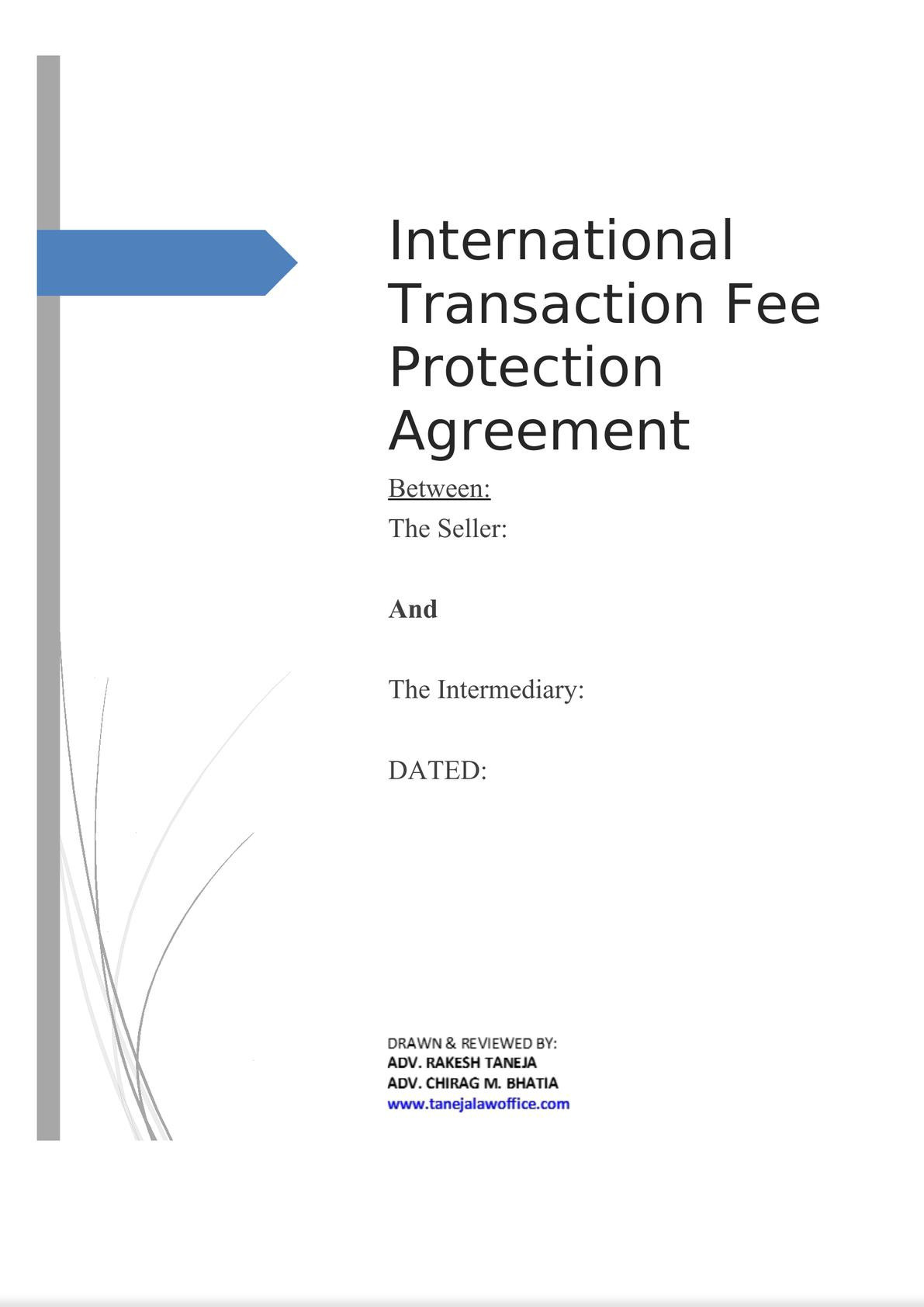International Transaction Fee Protection Agreement-0