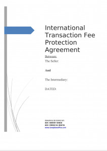 International Transaction Fee Protection Agreement