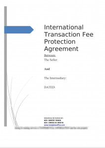 International Transaction Fee Protection Agreement