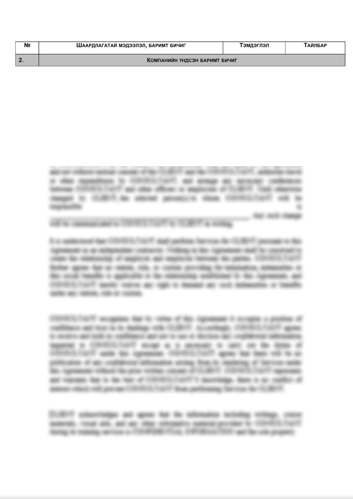 Legal due diligence checklist (Mongolian legal entities)    -5