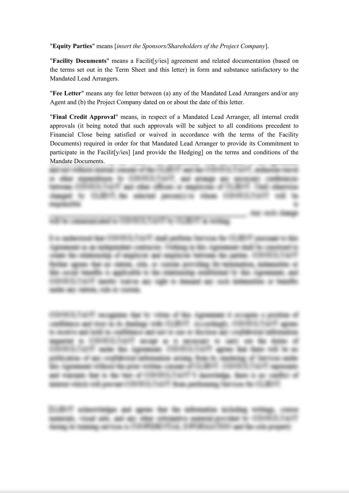 Template Project Finance Mandate Letter-2