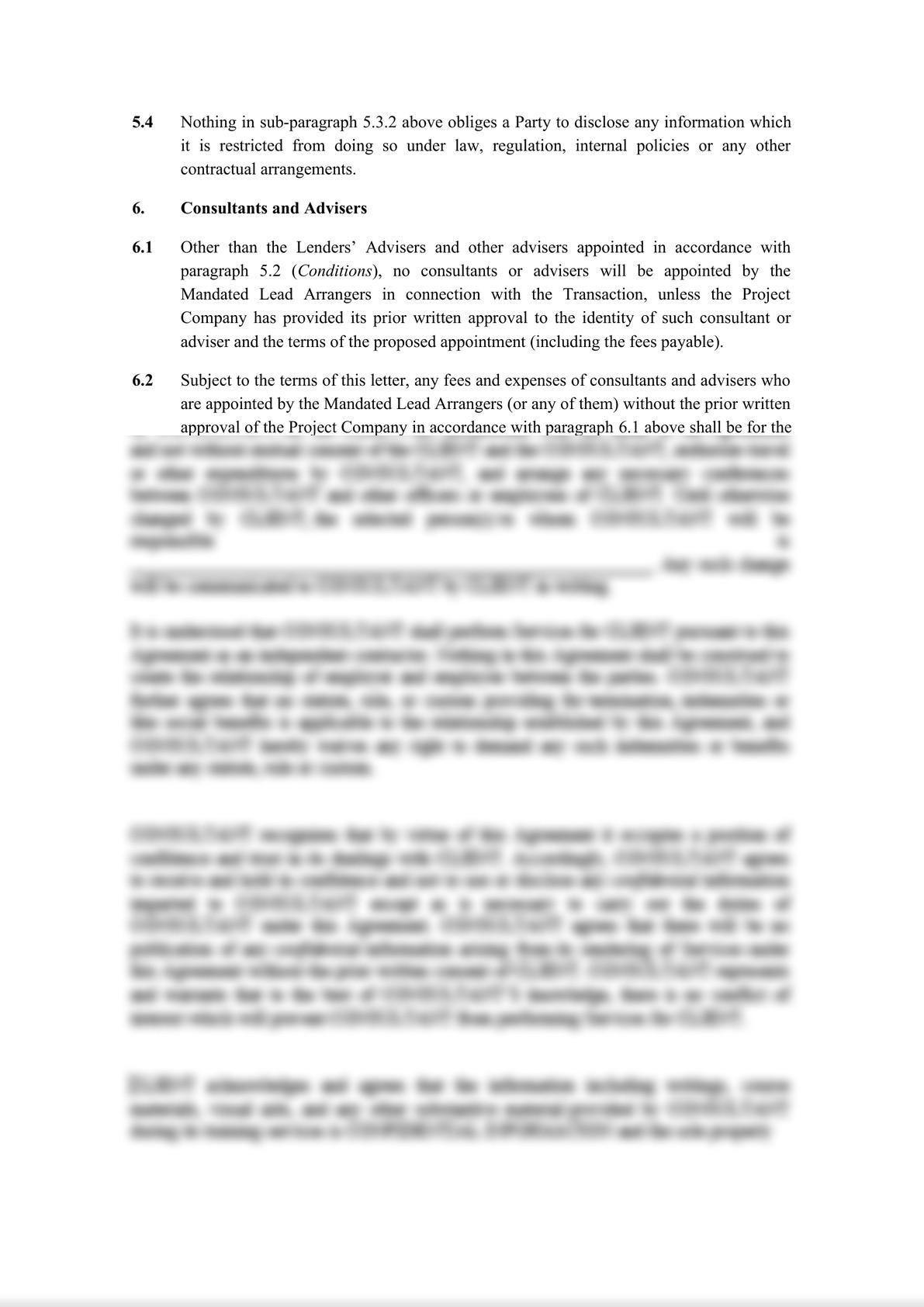 Template Project Finance Mandate Letter-8