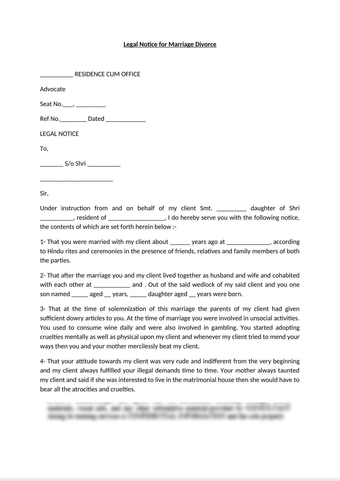 Legal Notice for Divorce-1