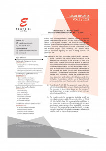 Establishment of a Business Entities Pursuant to the Job Creation Act No. 11 of 2020 - Indonesia