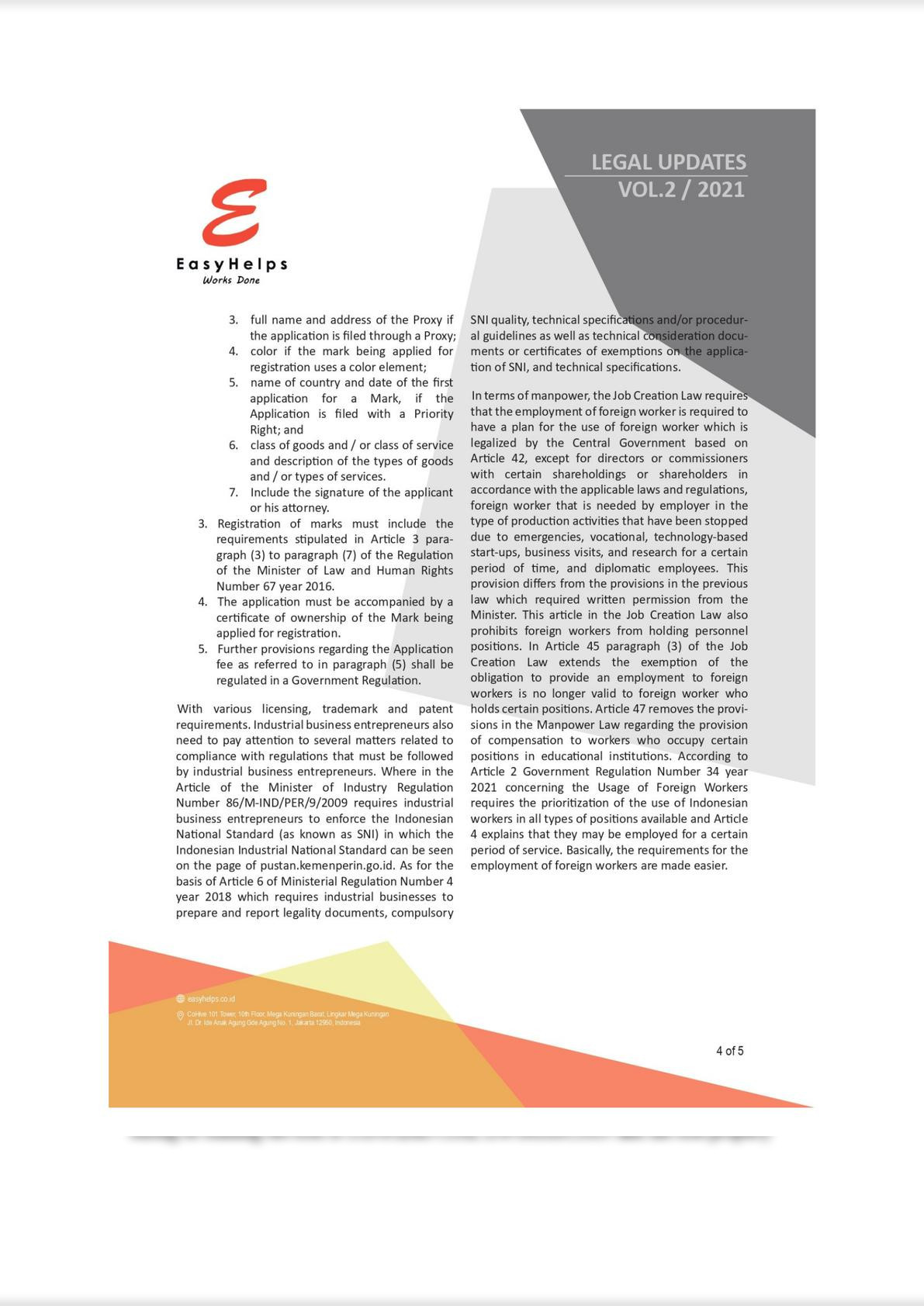 The Industrial Sector in the Job Creation Act No. 11 of 2020 New Regulation in Indonesia-3