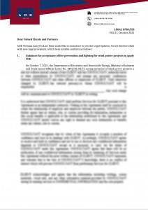 LEGAL UPDATES VOL.21 OCTOBER 2021