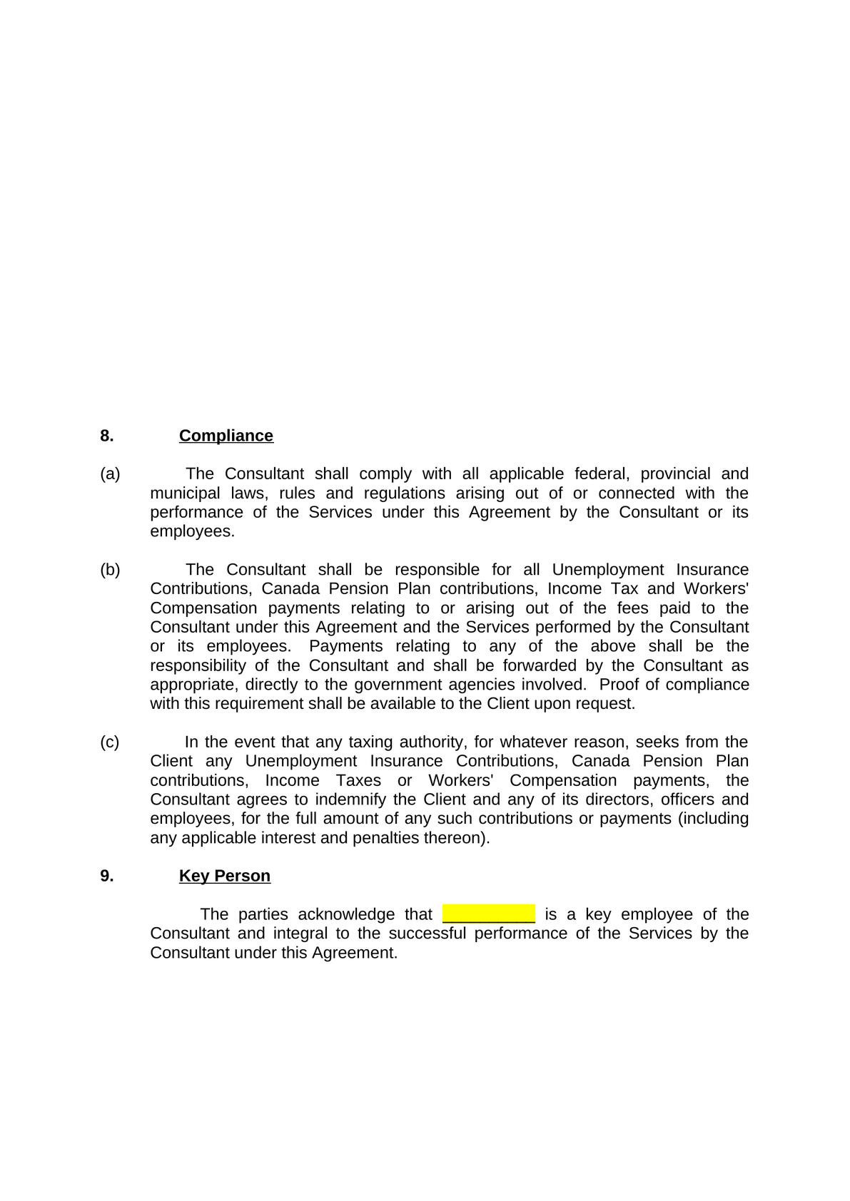 Sample consulting agreement-1
