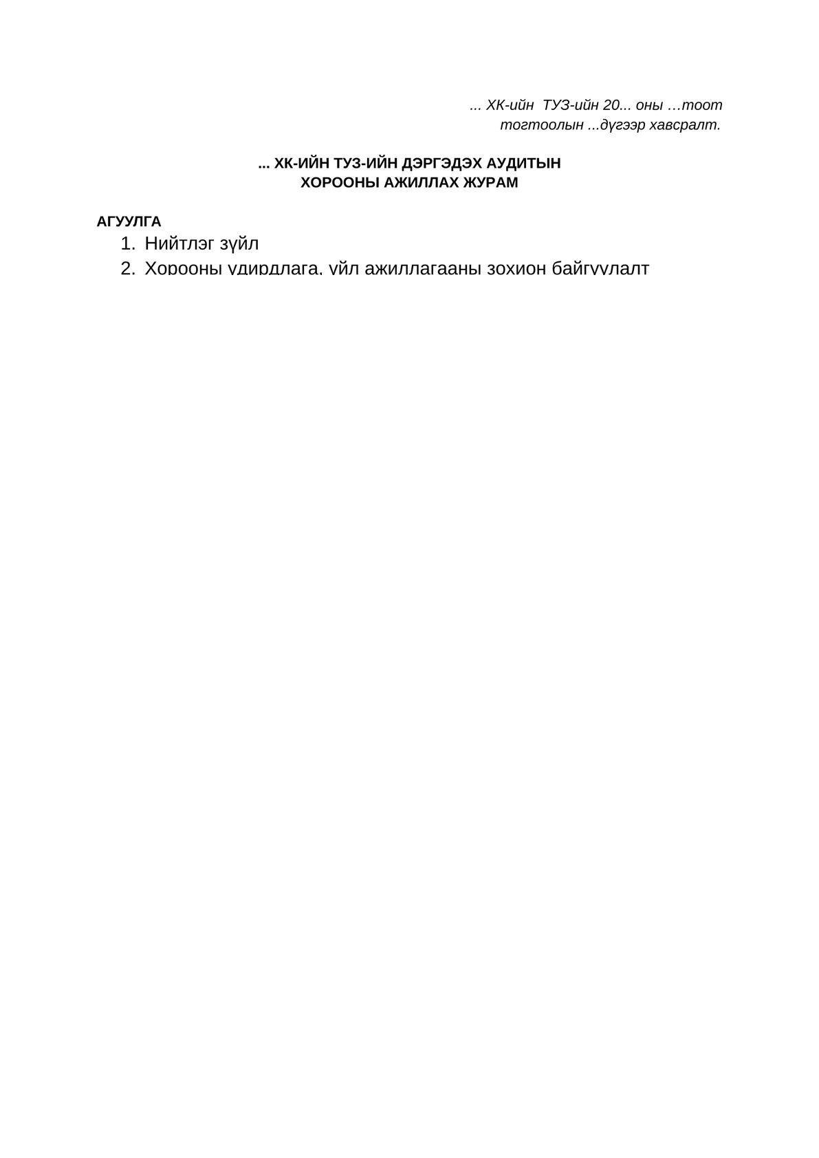 ТУЗ-ийн дэргэдэх Аудитын хорооны ажиллах журам-0