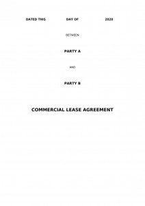 Commercial Lease Agreement for Lease of Hotel Building