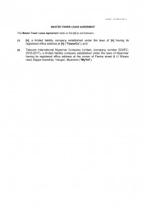 Master Lease Agreement