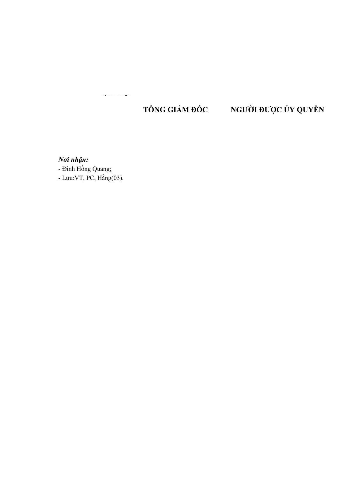 Quyết định ủy quyền trong Công ty-1