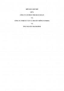 Memorandum of Understanding for creating a technical company