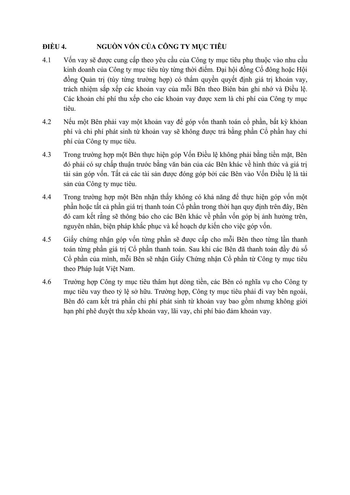 Memorandum of Understanding for creating a technical company -1