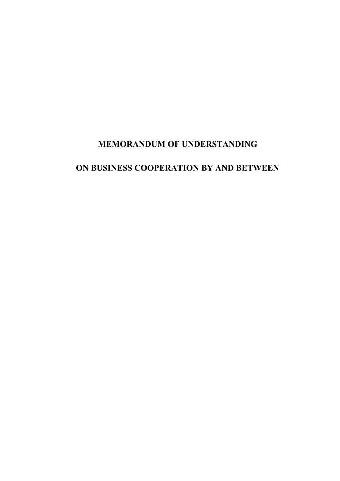 Memorandum of Understanding for big Corporations-0