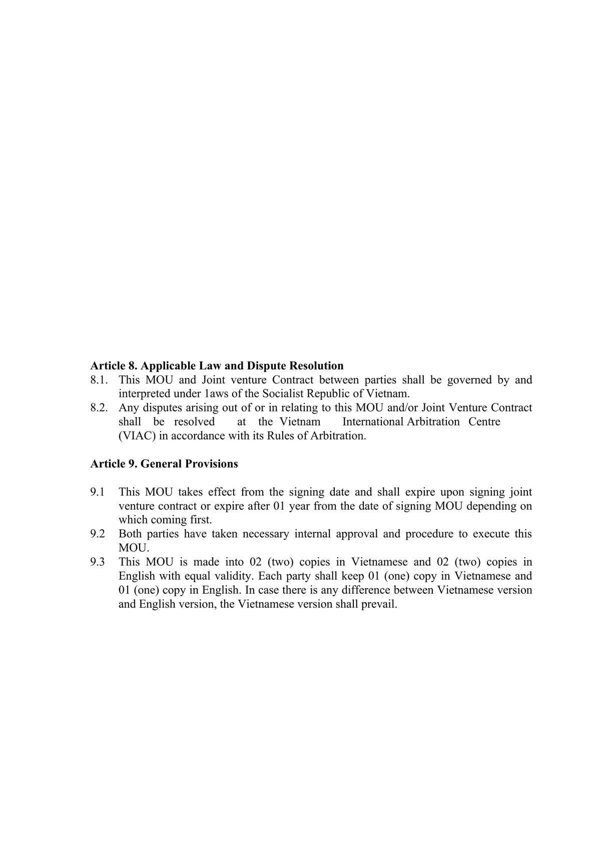 Memorandum of Understanding for big Corporations-1