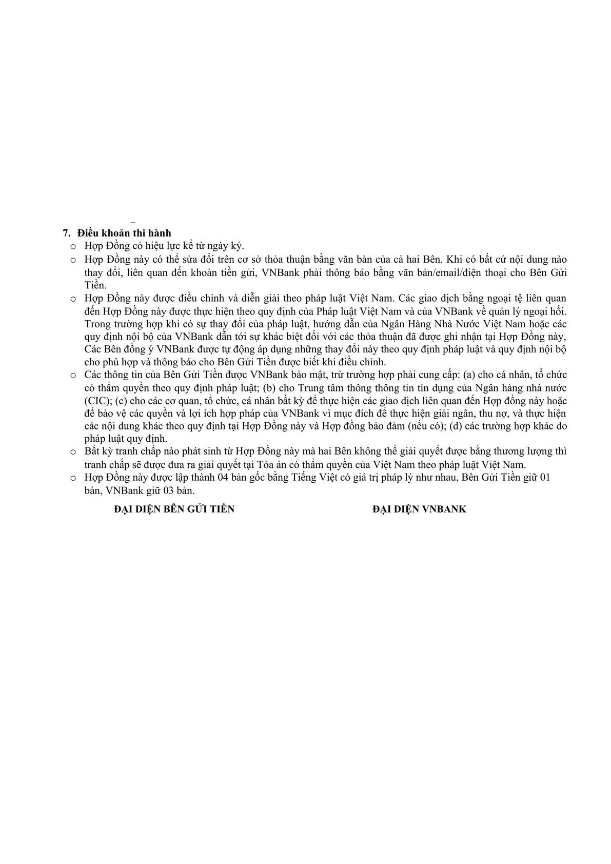 Term Deposit Agreement -1
