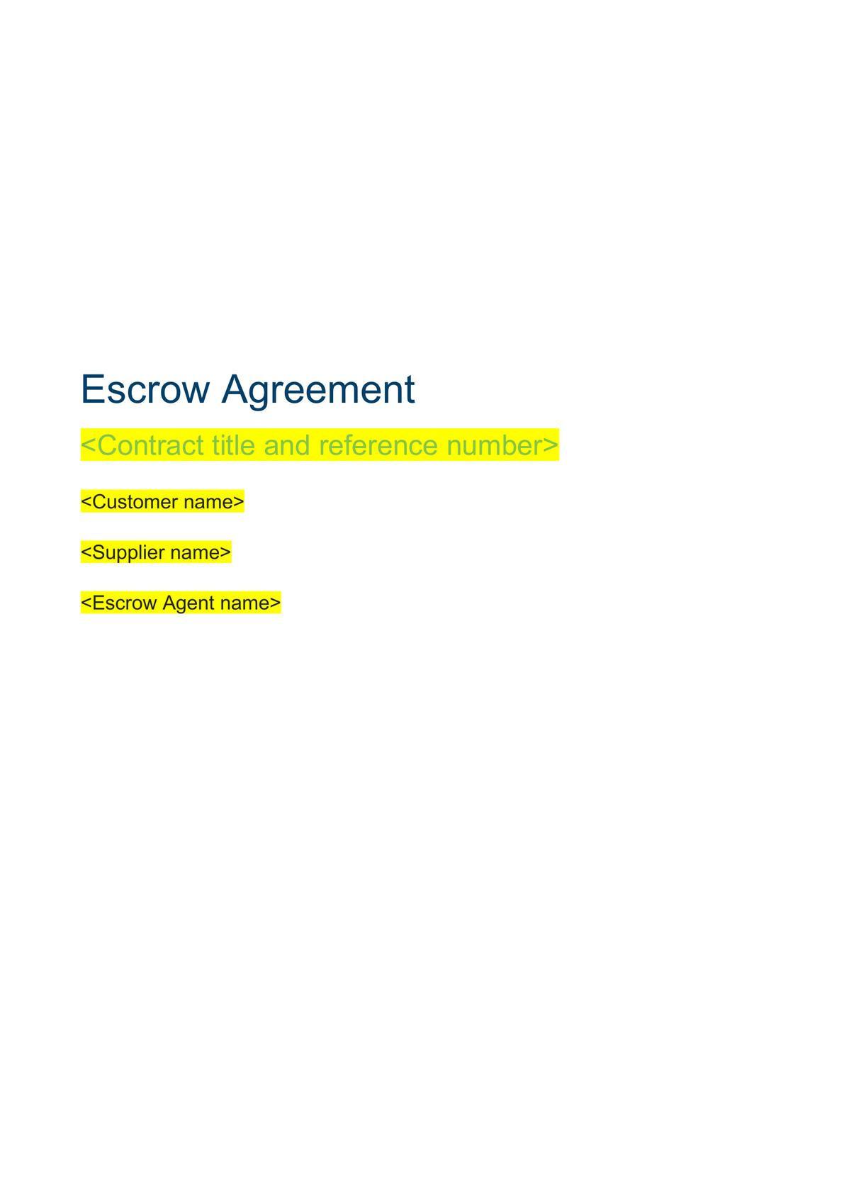 Escrow agreement-0