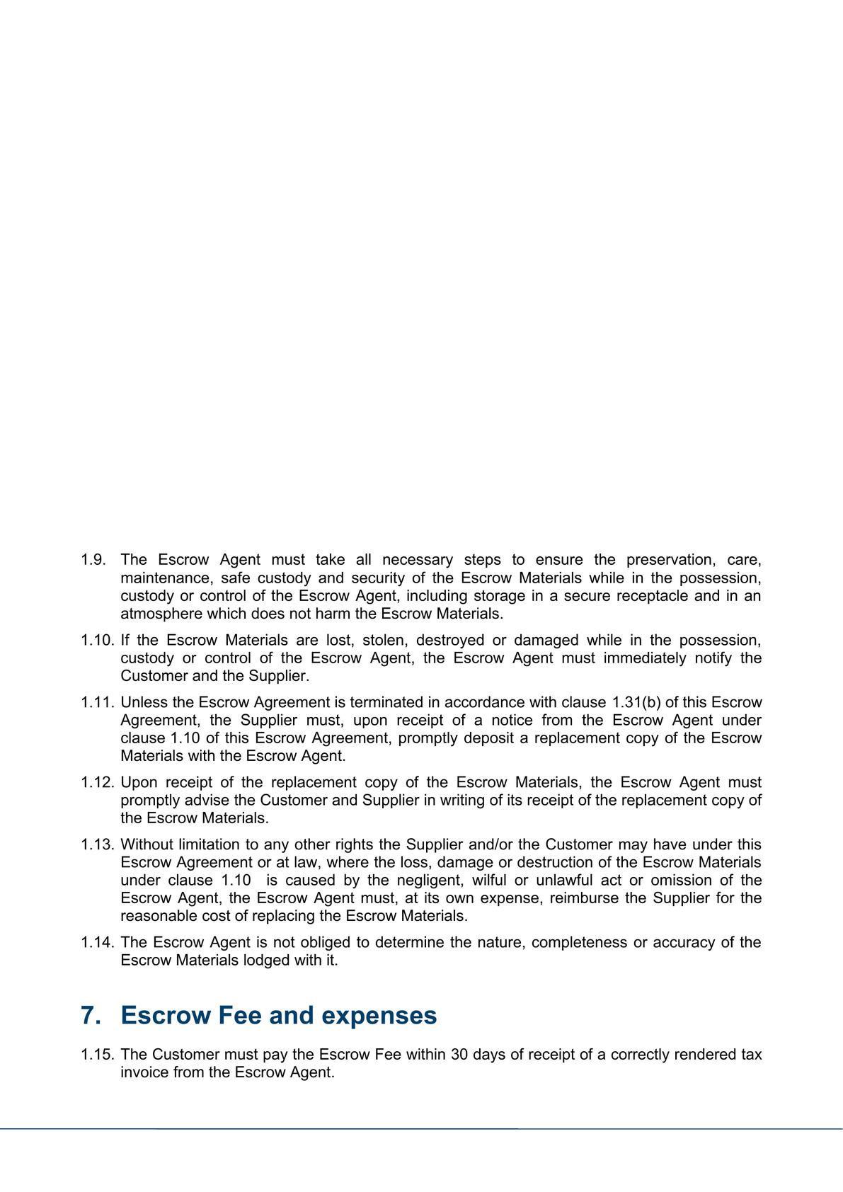 Escrow agreement-3