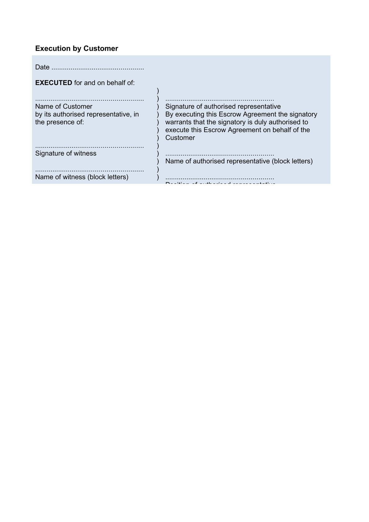 Escrow agreement-2