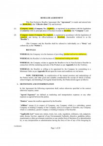 Reseller agreement /Can be used for any jurisdiction/